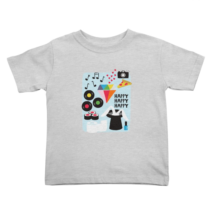 Happy Thoughts Kids Toddler T-Shirt by meredith's Artist Shop