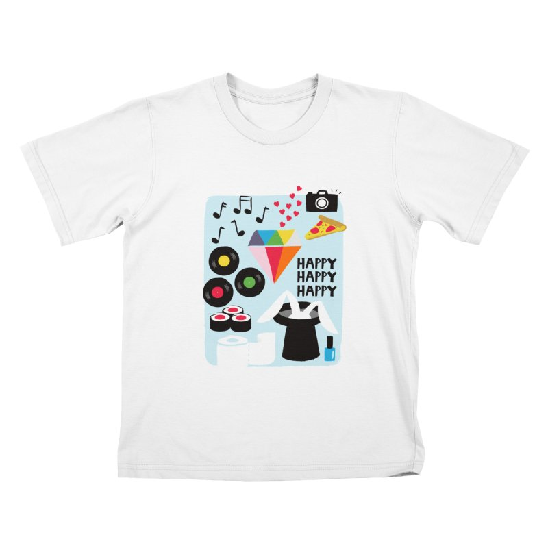 Happy Thoughts Kids T-shirt by meredith's Artist Shop