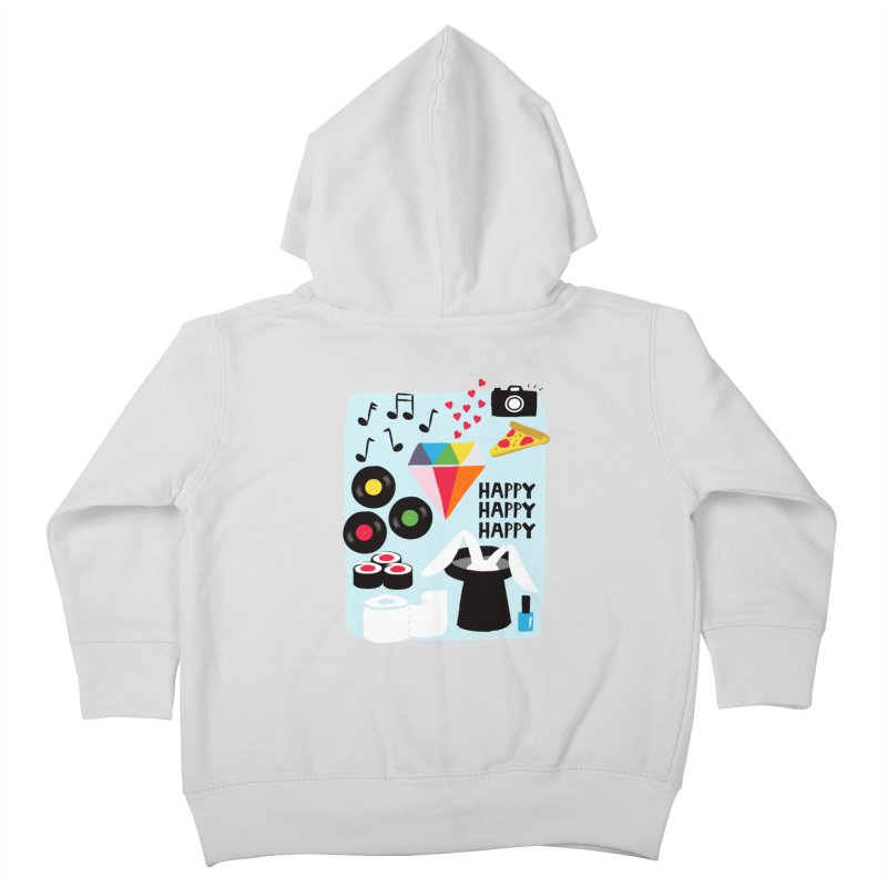 Happy Thoughts Kids Toddler Zip-Up Hoody by meredith's Artist Shop