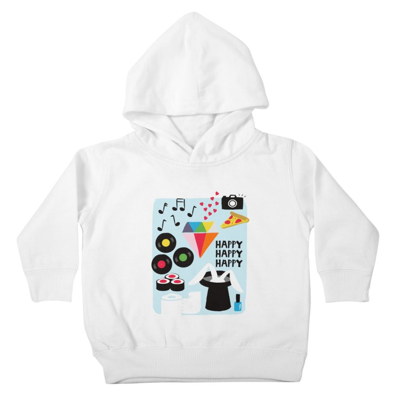 Happy Thoughts Kids Toddler Pullover Hoody by meredith's Artist Shop