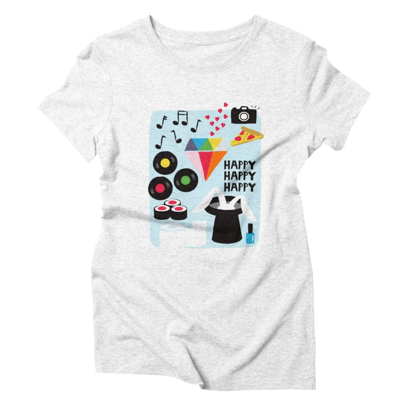 Happy Thoughts Women's Triblend T-shirt by meredith's Artist Shop