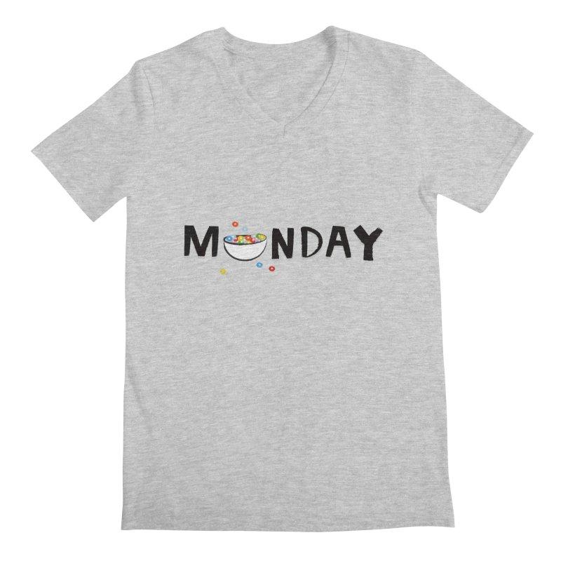 Monday Men's V-Neck by meredith's Artist Shop