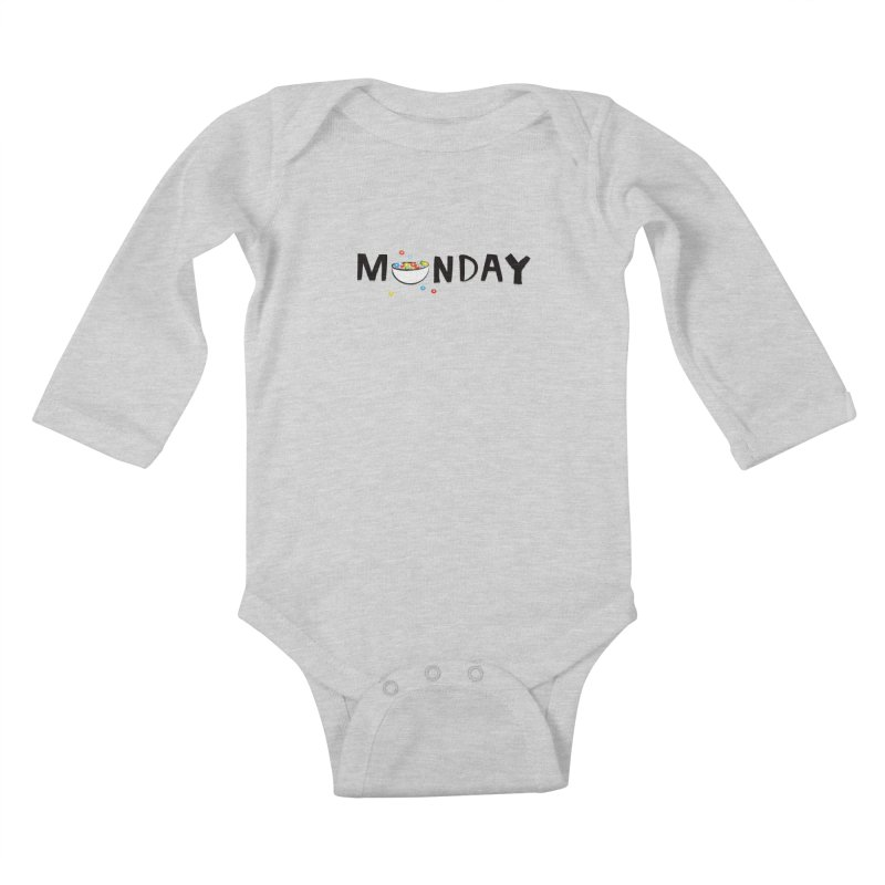 Monday Kids Baby Longsleeve Bodysuit by meredith's Artist Shop