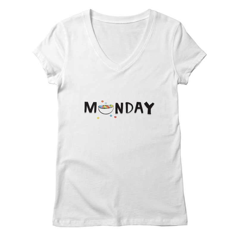 Monday Women's V-Neck by meredith's Artist Shop