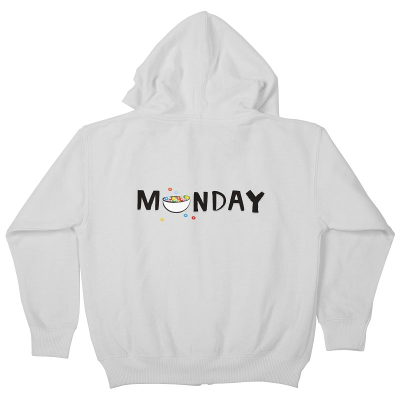 Monday Kids Zip-Up Hoody by meredith's Artist Shop