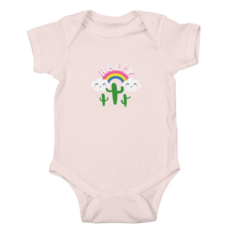 Happy Kids Baby Bodysuit by meredith's Artist Shop