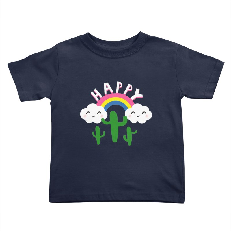 Happy Kids Toddler T-Shirt by meredith's Artist Shop