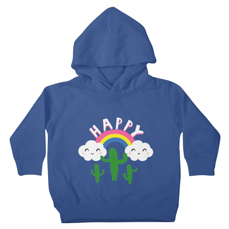 Happy Kids Toddler Pullover Hoody by meredith's Artist Shop