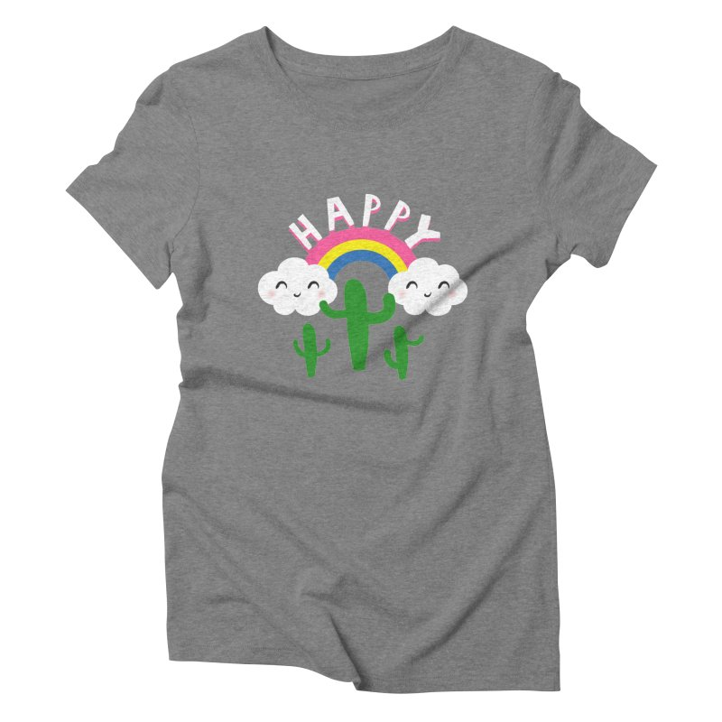 Happy Women's Triblend T-shirt by meredith's Artist Shop