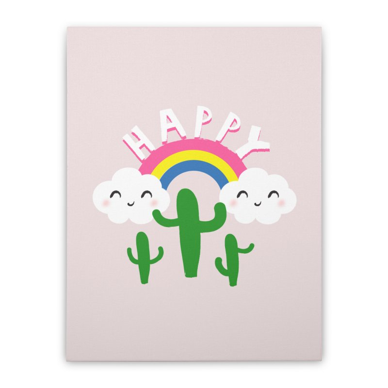 Happy Home Stretched Canvas by meredith's Artist Shop