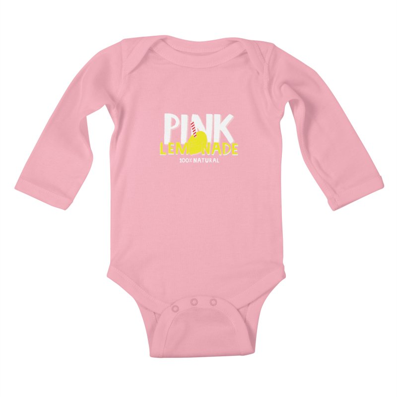 Pink Lemonade Kids Baby Longsleeve Bodysuit by meredith's Artist Shop