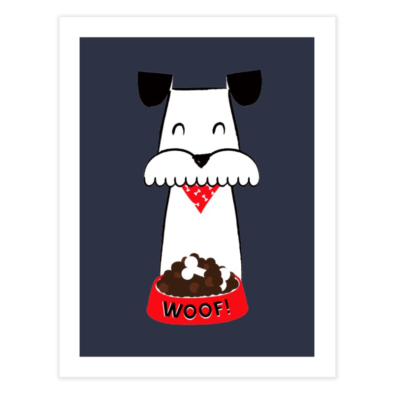 Woof Home Fine Art Print by meredith's Artist Shop