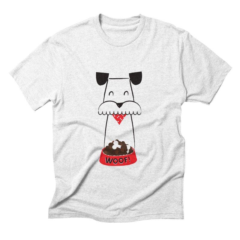 Woof Men's Triblend T-shirt by meredith's Artist Shop