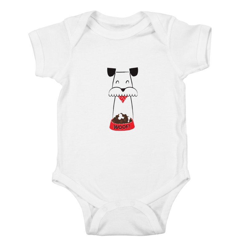 Woof Kids Baby Bodysuit by meredith's Artist Shop
