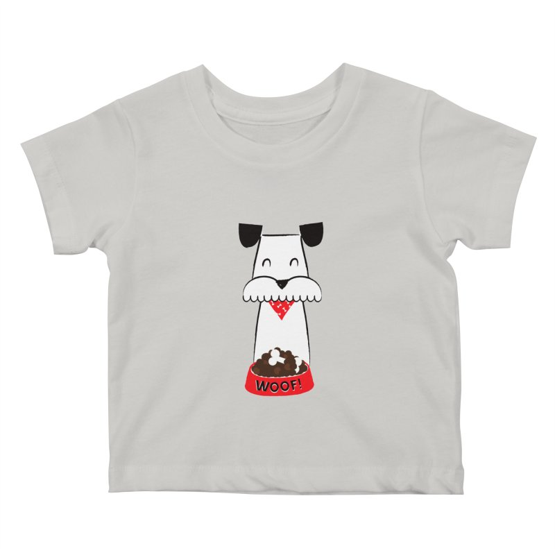 Woof Kids Baby T-Shirt by meredith's Artist Shop
