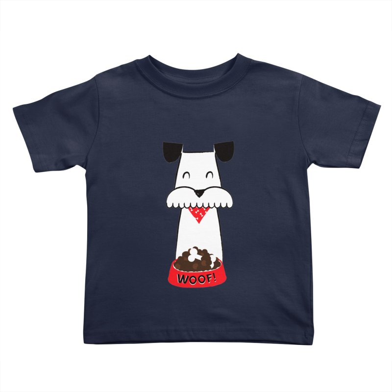 Woof in Kids Toddler T-Shirt Navy by meredith's Artist Shop