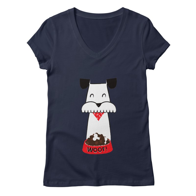 Woof Women's V-Neck by meredith's Artist Shop