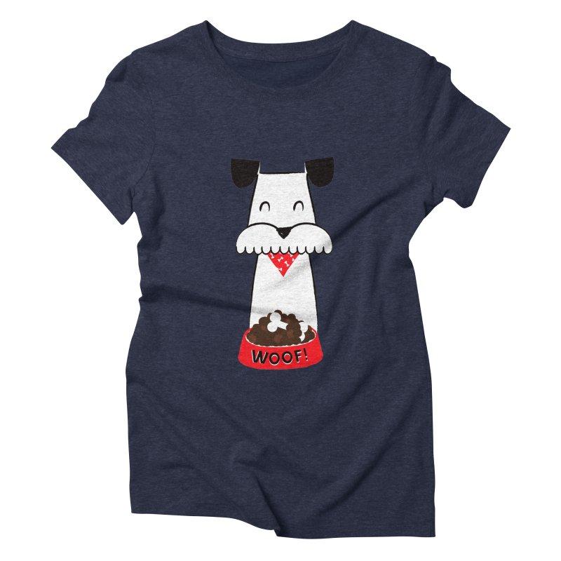 Woof Women's Triblend T-shirt by meredith's Artist Shop