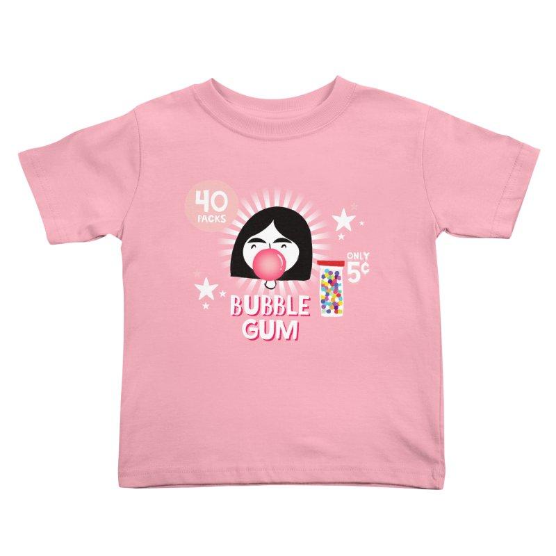 Bubble Gum Kids Toddler T-Shirt by meredith's Artist Shop