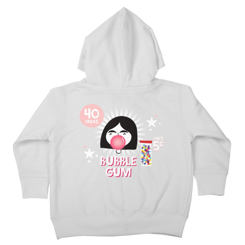 Bubble Gum Kids Toddler Zip-Up Hoody by meredith's Artist Shop