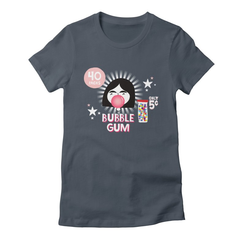Bubble Gum Women's Fitted T-Shirt by meredith's Artist Shop