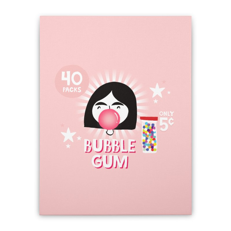 Bubble Gum Home Stretched Canvas by meredith's Artist Shop