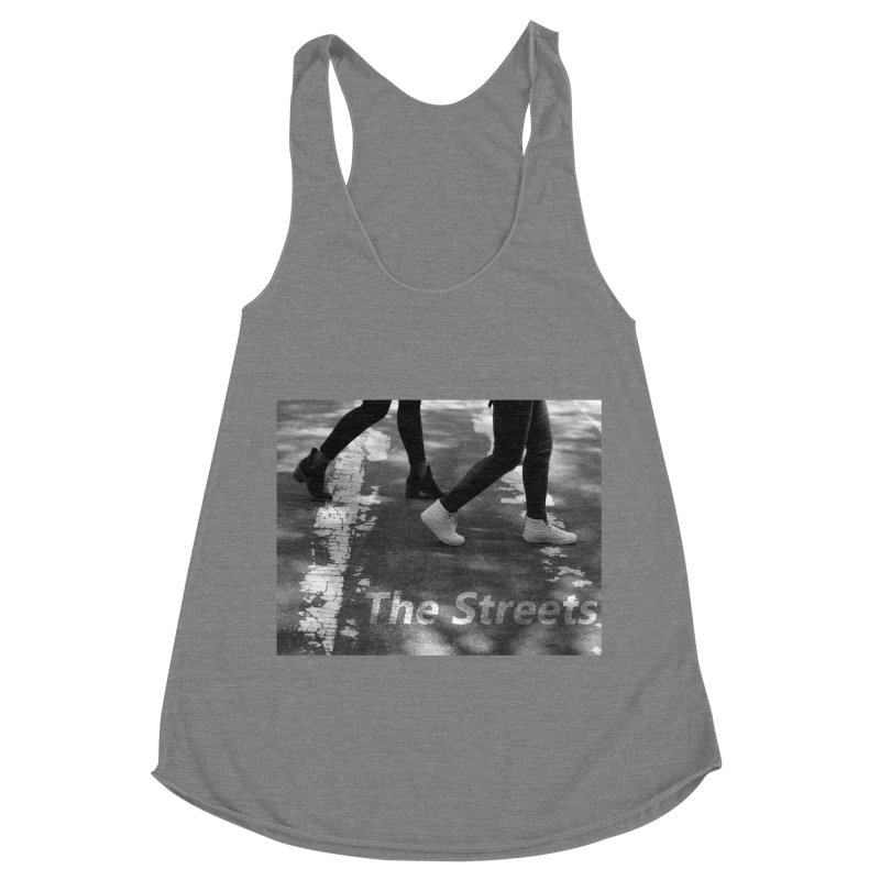 THE STREETS Women's Racerback Triblend Tank by THE STREETS