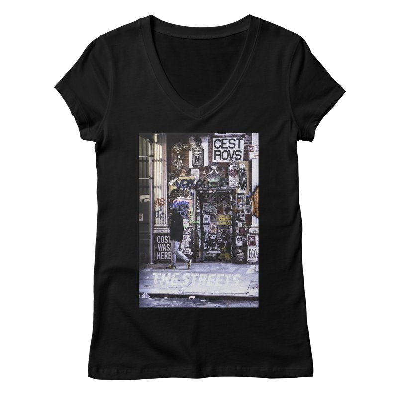 THE STREETS Pasteups Women's V-Neck by THE STREETS