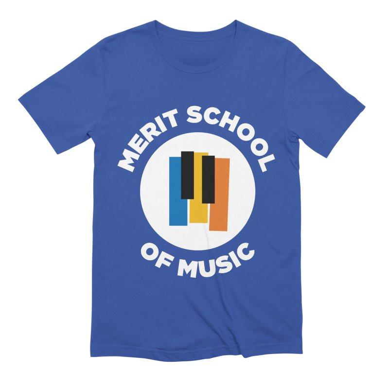 Merit Logo on Color Men's T-Shirt by Merit School of Music