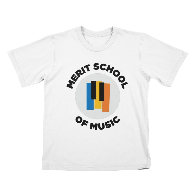 Merit Logo Print Kids T-Shirt by Merit School of Music