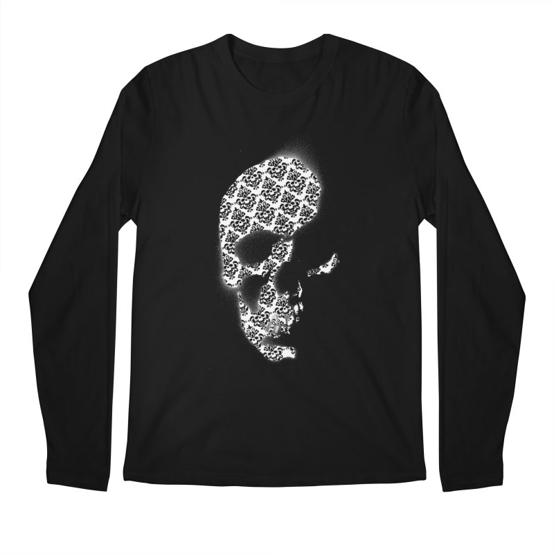 Skull Damask Men's Longsleeve T-Shirt by merlynsbeard's Artist Shop