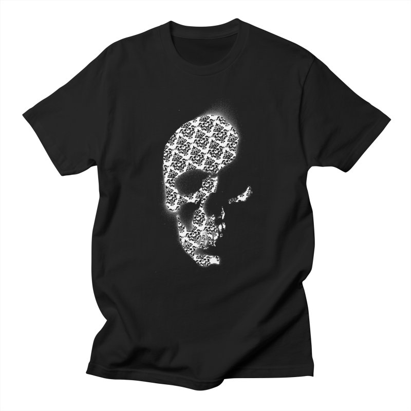Skull Damask Women's Unisex T-Shirt by merlynsbeard's Artist Shop