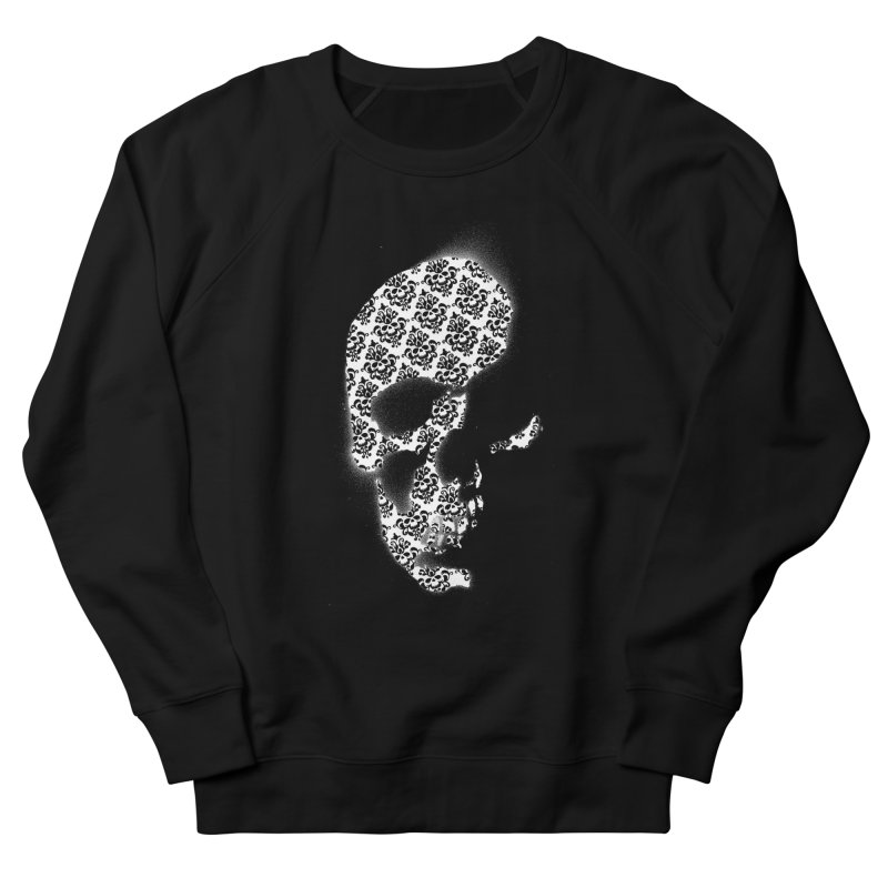 Skull Damask Men's Sweatshirt by merlynsbeard's Artist Shop