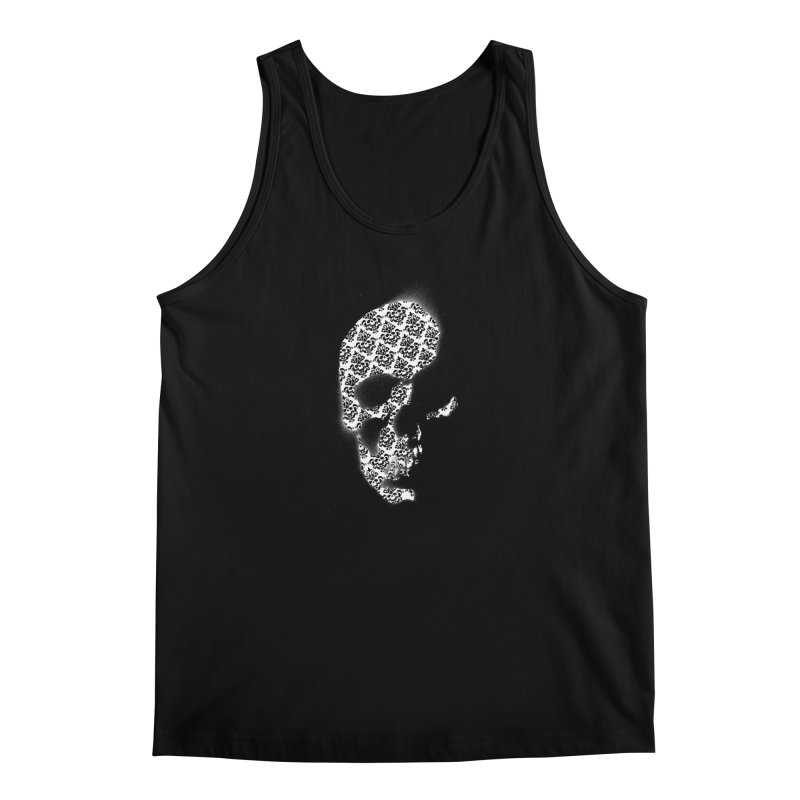 Skull Damask Men's Tank by merlynsbeard's Artist Shop