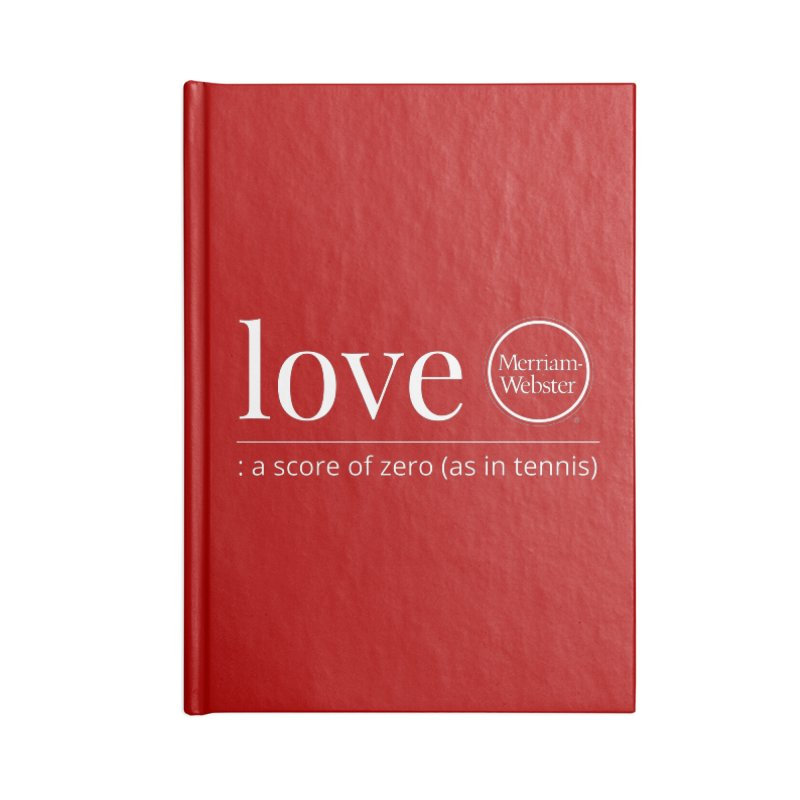 Love Accessories Notebook by Merriam-Webster Dictionary