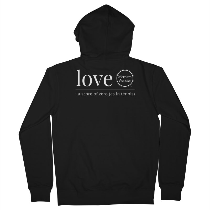 Love Men's French Terry Zip-Up Hoody by Merriam-Webster Dictionary