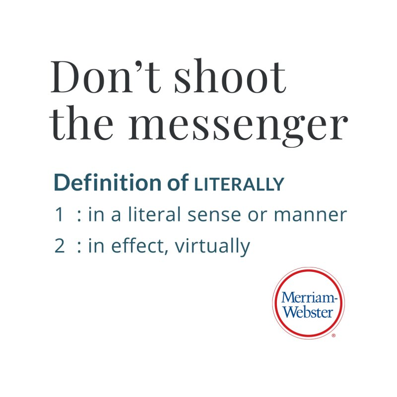 Don't shoot the messenger Accessories Mug by Merriam-Webster Dictionary