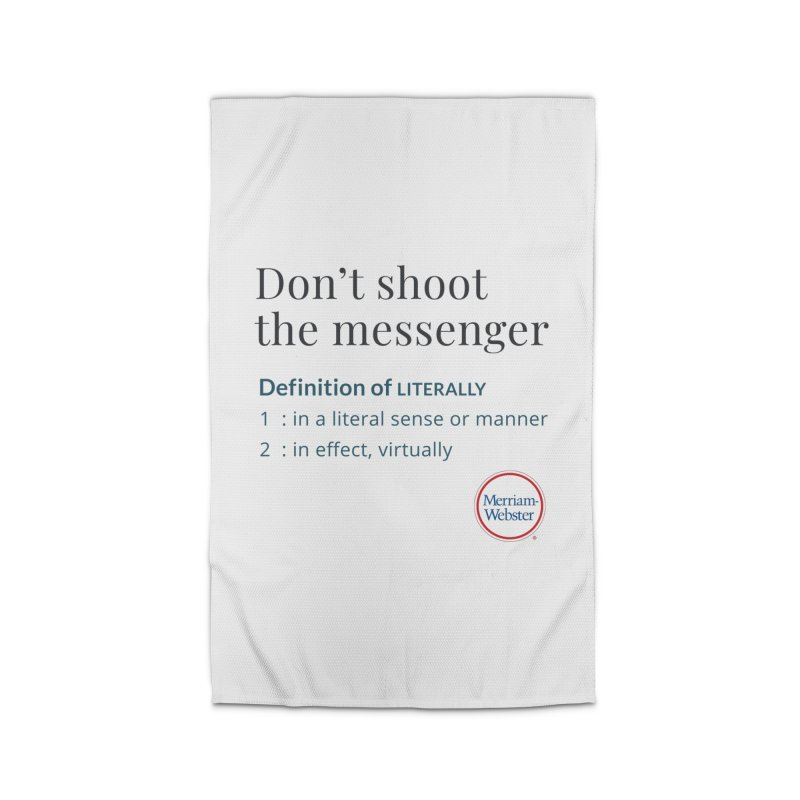 Don't shoot the messenger Home Rug by Merriam-Webster Dictionary