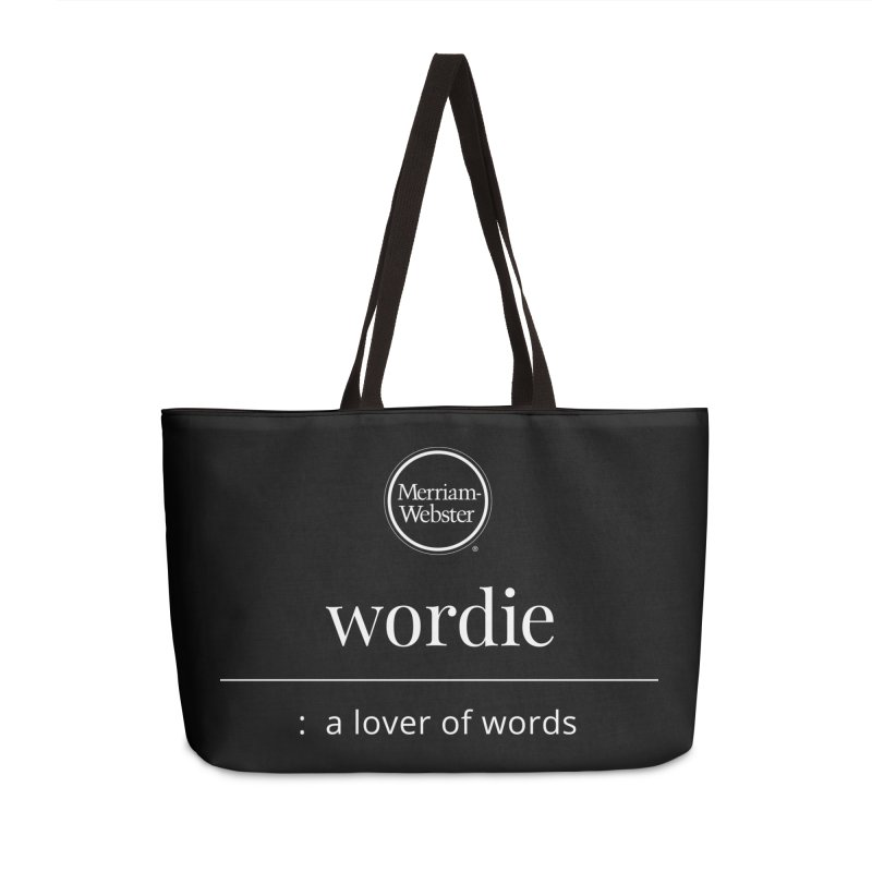 Wordie Accessories Weekender Bag Bag by Merriam-Webster Dictionary