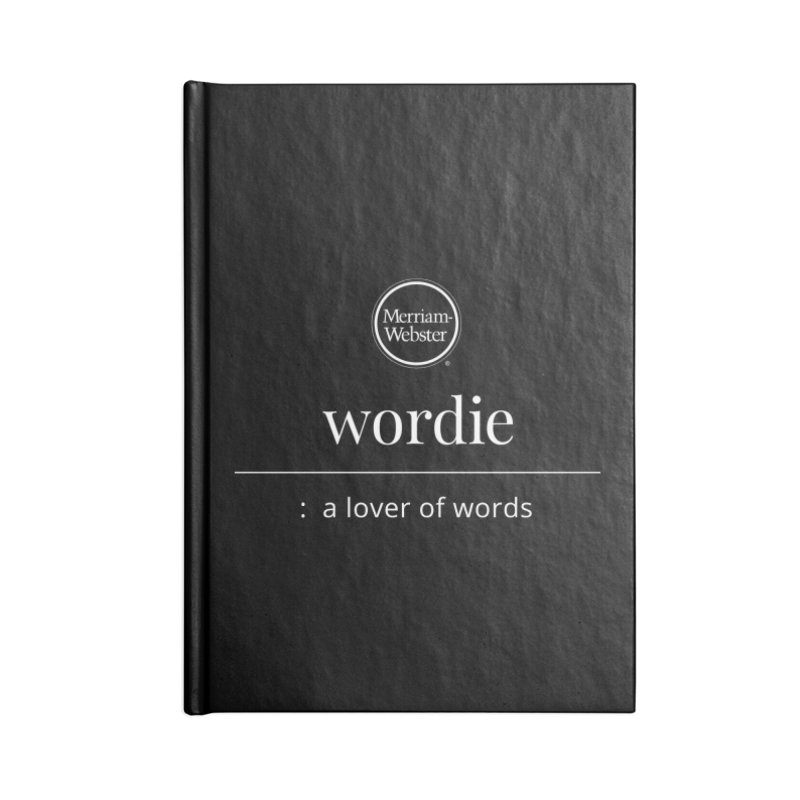 Wordie Accessories Blank Journal Notebook by Merriam-Webster Dictionary