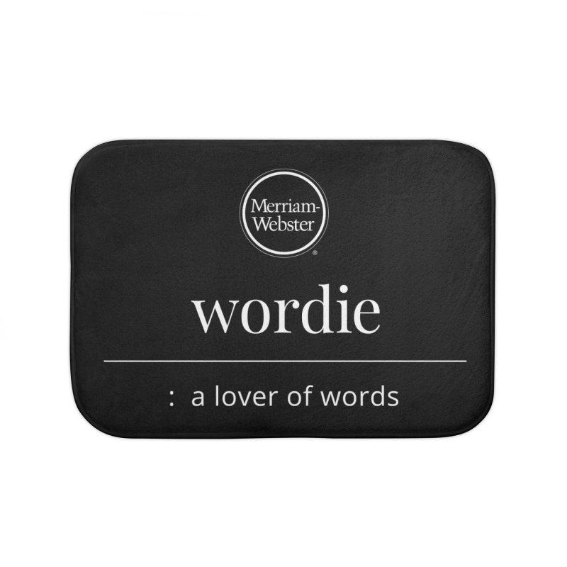 Wordie Home Bath Mat by Merriam-Webster Dictionary