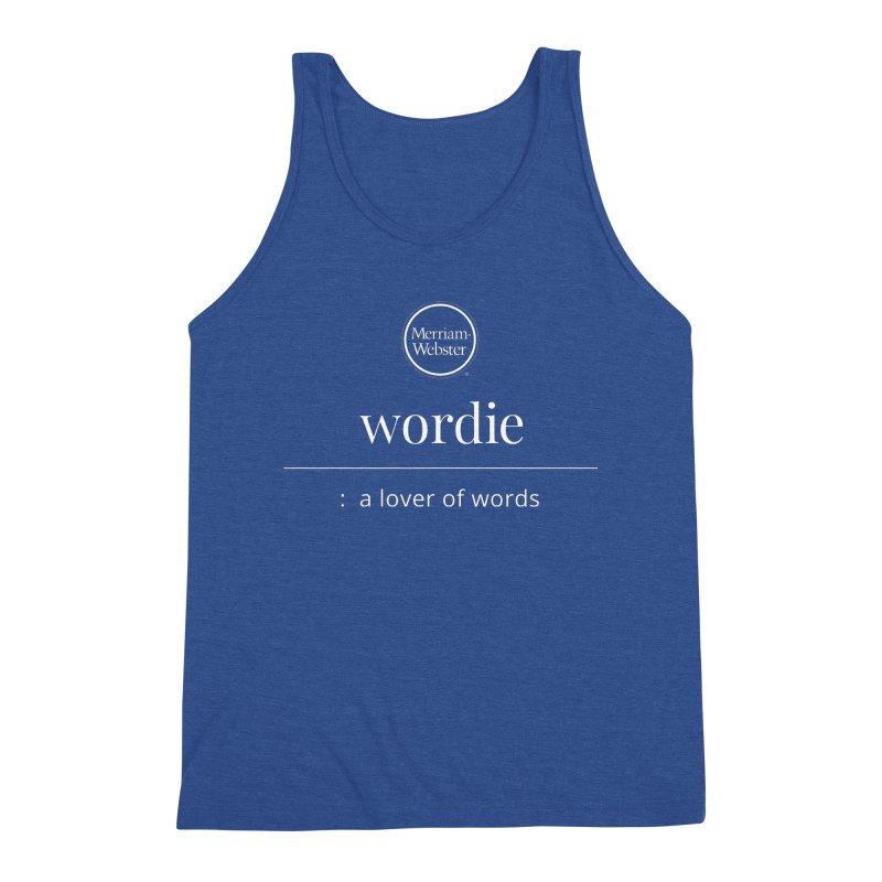 Wordie Men's Triblend Tank by Merriam-Webster Dictionary