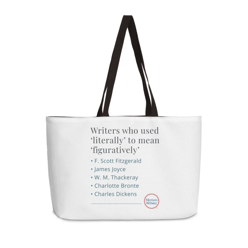 Literally Accessories Weekender Bag Bag by Merriam-Webster Dictionary