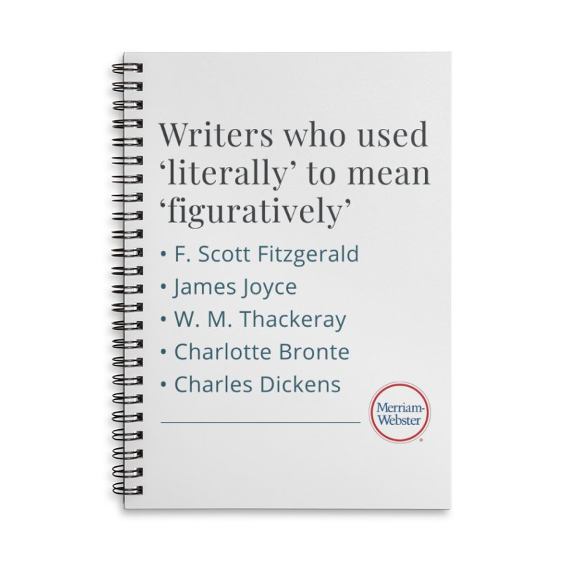 Literally Accessories Lined Spiral Notebook by Merriam-Webster Dictionary