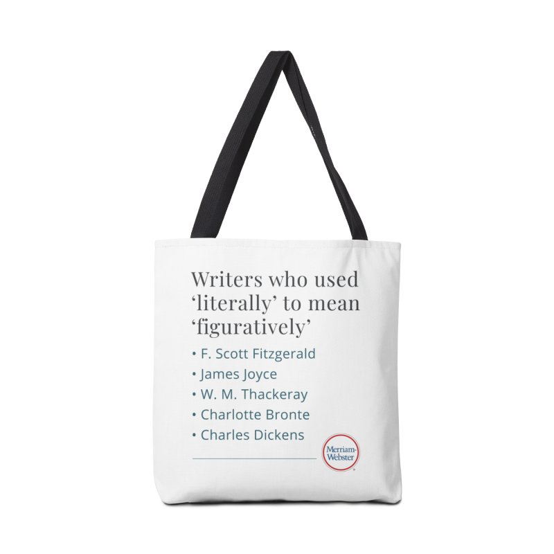 Literally in Tote Bag by Merriam-Webster Dictionary