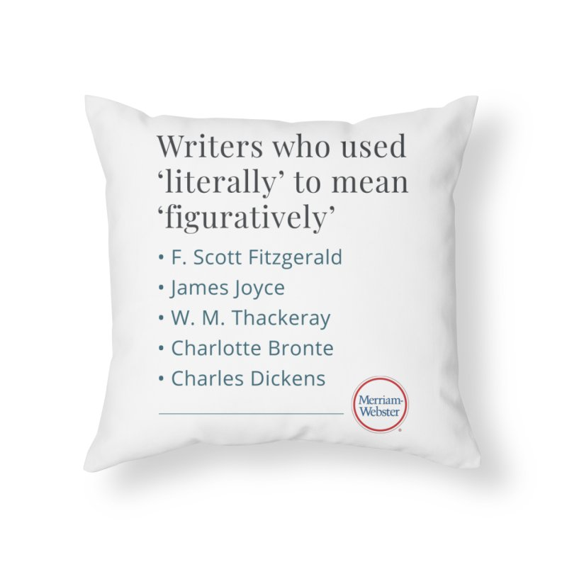 Literally Home Throw Pillow by Merriam-Webster Dictionary