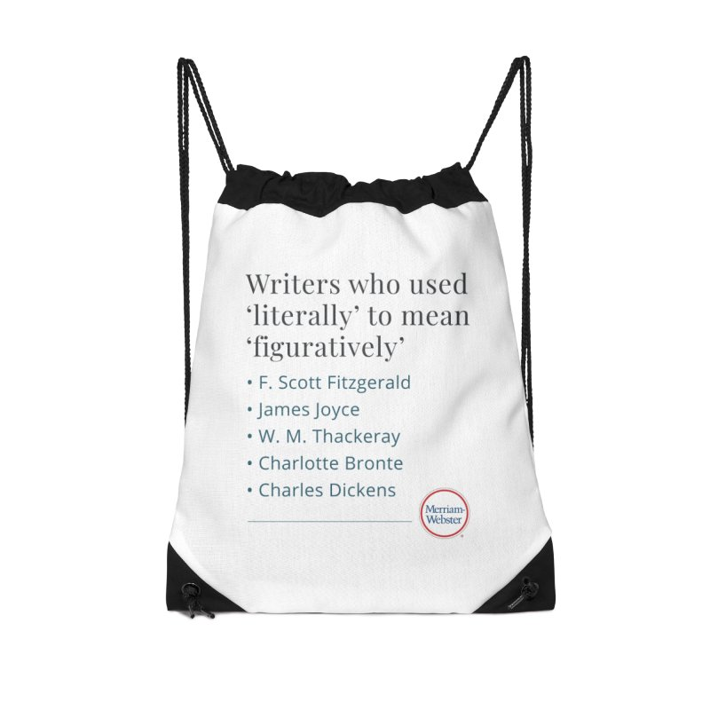 Literally Accessories Drawstring Bag Bag by Merriam-Webster Dictionary