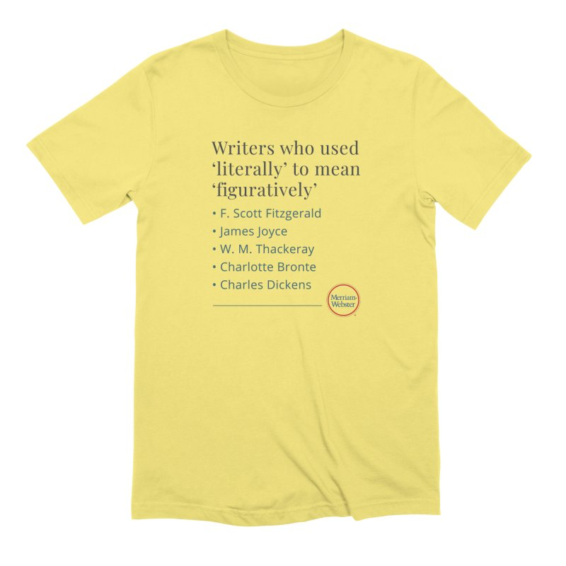 Literally Men's Extra Soft T-Shirt by Merriam-Webster Dictionary