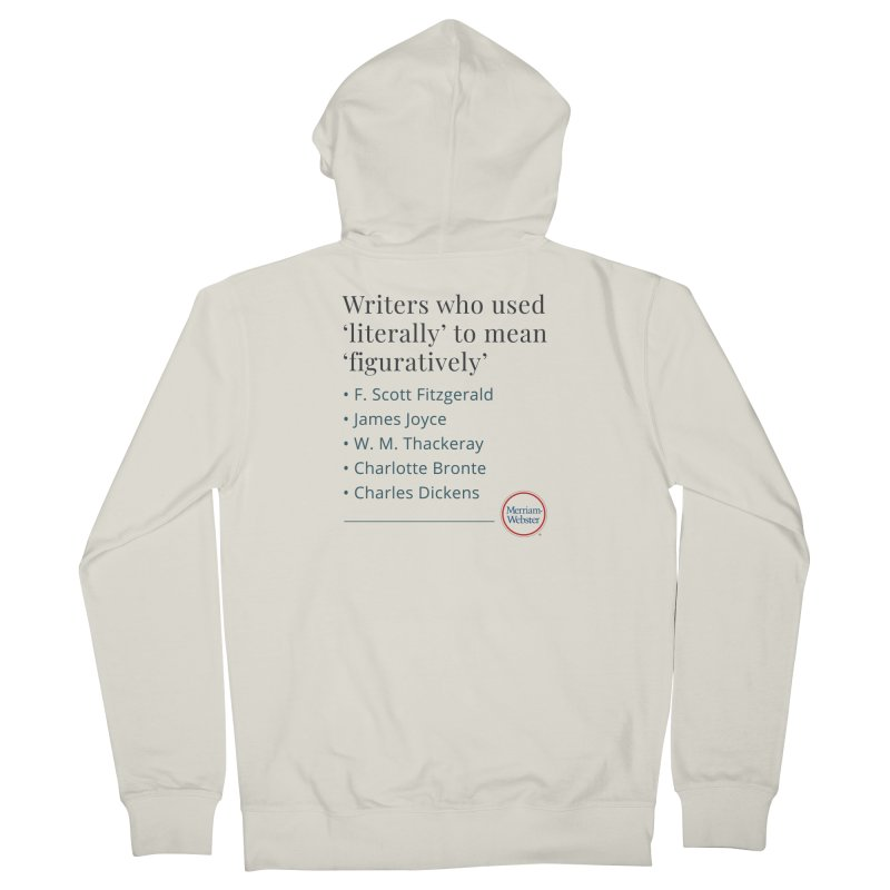 Literally Men's French Terry Zip-Up Hoody by Merriam-Webster Dictionary