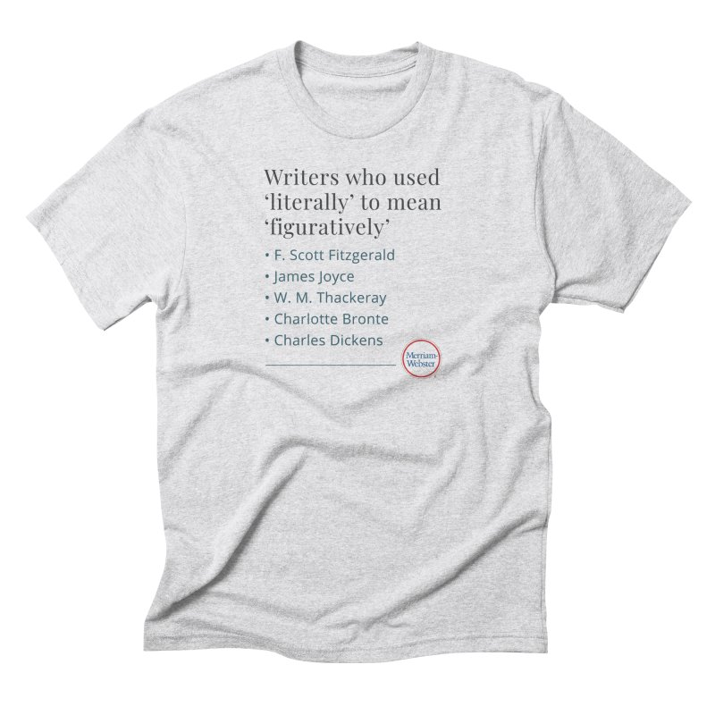 Literally Men's Triblend T-Shirt by Merriam-Webster Dictionary